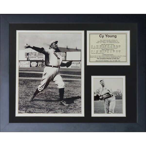 Cy Young Framed Memorabilia by Legends Never Die