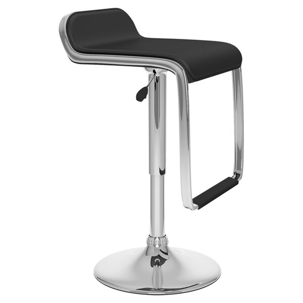 Emmett Adjustable Height Swivel Bar Stool (Set of 2) by Wade Logan