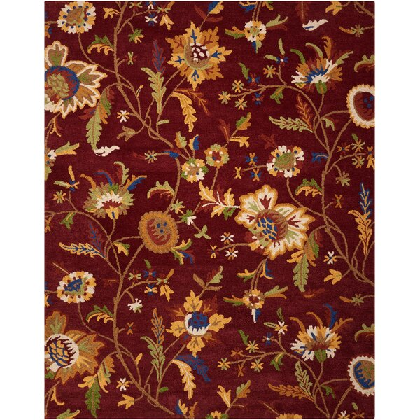 Annetta Hand-Tufted Wine Area Rug by Darby Home Co