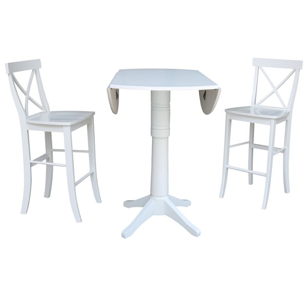 Kimbrough 3 Piece Pub Table Set by Rosecliff Heights