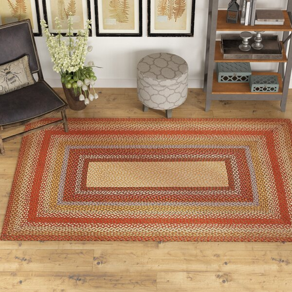 Scolley Braided Red / Brown Area Rug by August Grove