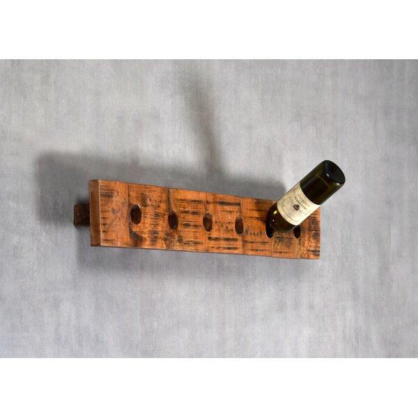 Lukasik Elongated 6 Bottle Wall Mounted Wine Bottle Rack by Millwood Pines