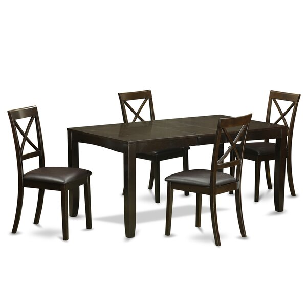 Lynfield 5 Piece Extendable Dining Set by East West Furniture