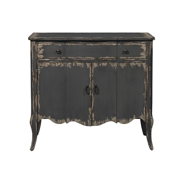 Trout Distressed 2 Door Accent Cabinet by Millwood Pines