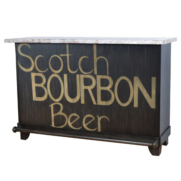 Kingery Bourbon Locking Home Bar with Wine Storage by Red Barrel Studio Red Barrel Studio