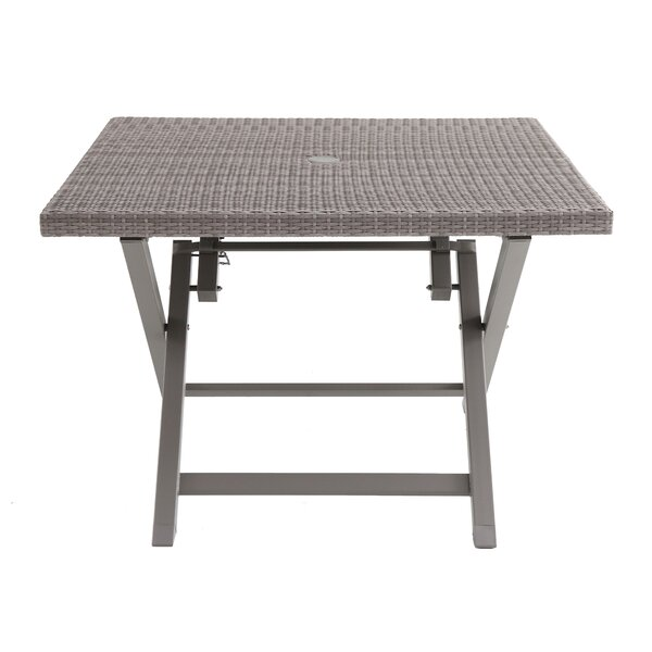 Spector 4 Person Folding Resin Wicker Dining Table by Ebern Designs