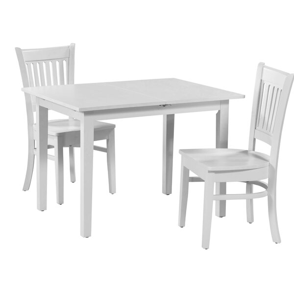 Spiller 3 Piece Extendable Solid Wood Dining Set by Winston Porter Winston Porter