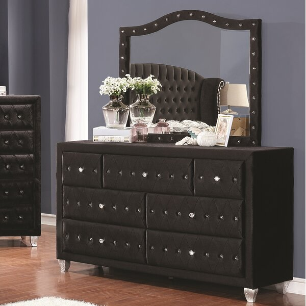 Burlingame 7 Drawer Double Dresser by House of Hampton
