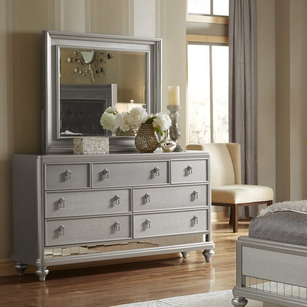 Desirat 7 Drawer Double Dresser with Mirror by Willa Arlo Interiors