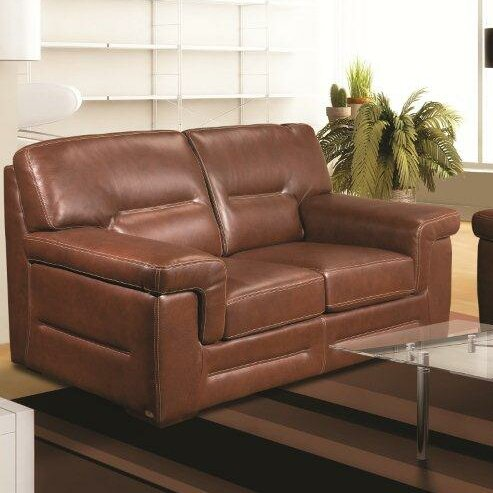 Buy Online Kennard Leather Loveseat by Red Barrel Studio by Red Barrel Studio