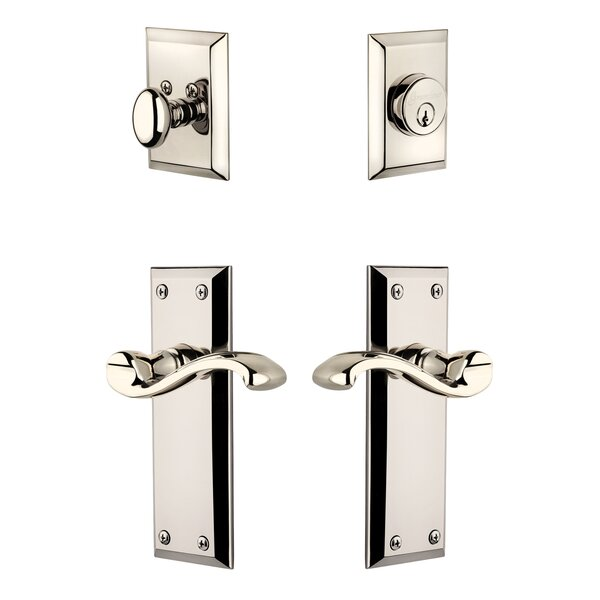 Fifth Avenue Single Cylinder Handleset with Portfino Lever by Grandeur