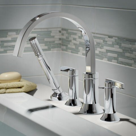 Berwick Double Handle Deck Mount Roman Tub Faucet