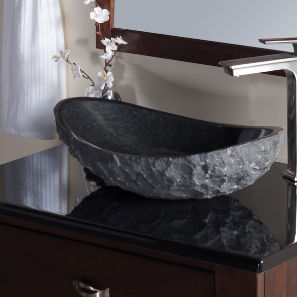 Absolute Stone Oval Vessel Bathroom Sink by Novatto