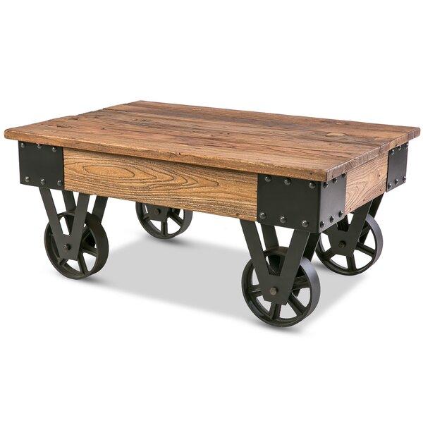 Silke Wheel Coffee Table By Gracie Oaks