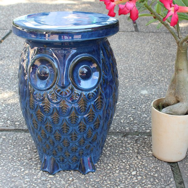 Makhzane Owl Ceramic Garden Stool by Bungalow Rose