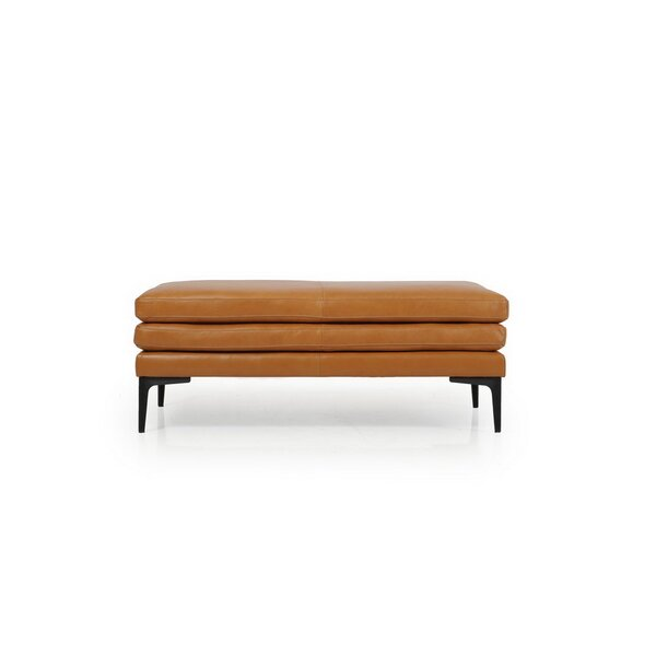 Review Whitmire Leather Ottoman
