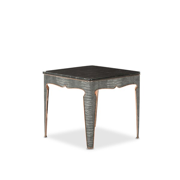 Carson End Table by Michael Amini Michael Amini