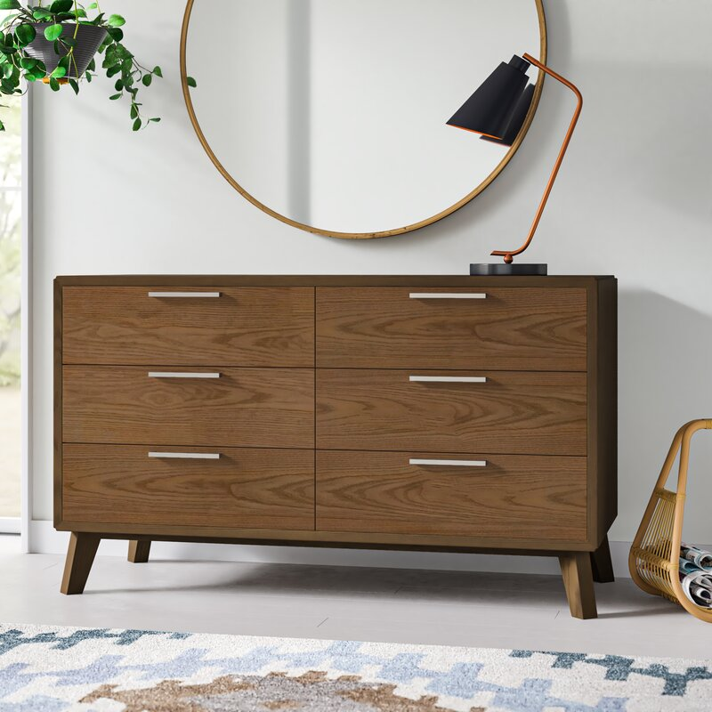 Merrinda 6 Drawer Double Dresser