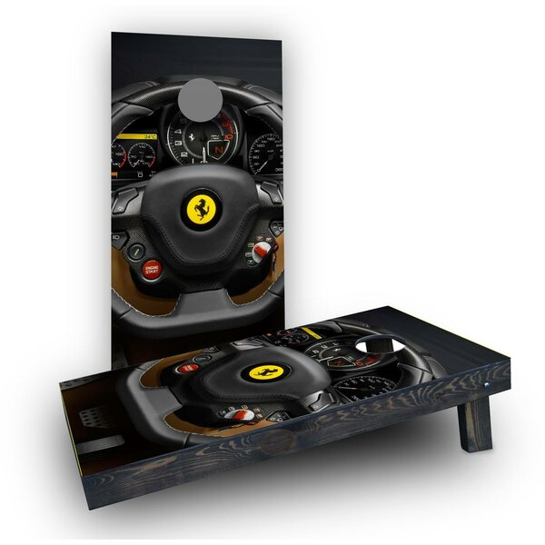 Ferrari Steering Wheel Cornhole Boards (Set of 2) by Custom Cornhole Boards