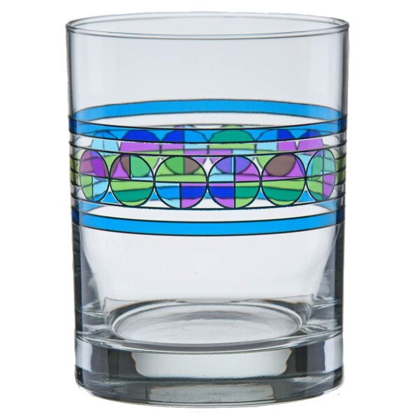 Saguaro Flower 14 oz. Glass Cocktail Glass (Set of 4) by Frank Lloyd Wright