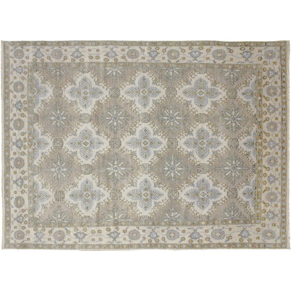 One-of-a-Kind Lona Hand-Knotted Brown Area Rug by Isabelline