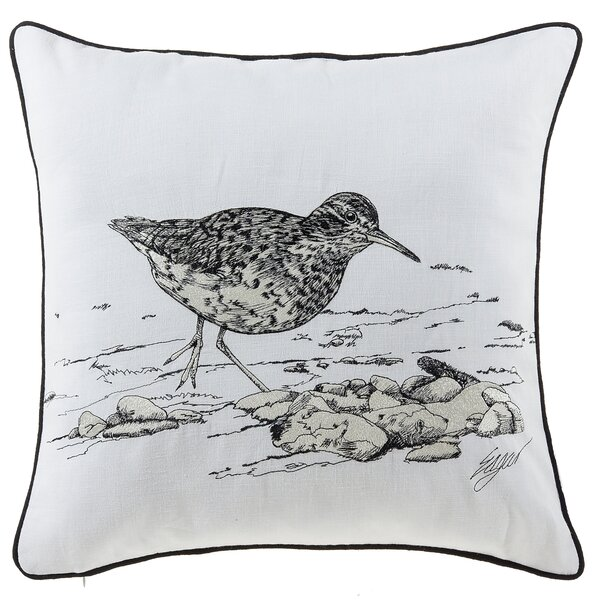 Buch Seagull Sea Creatures Cotton Throw Pillow by Highland Dunes
