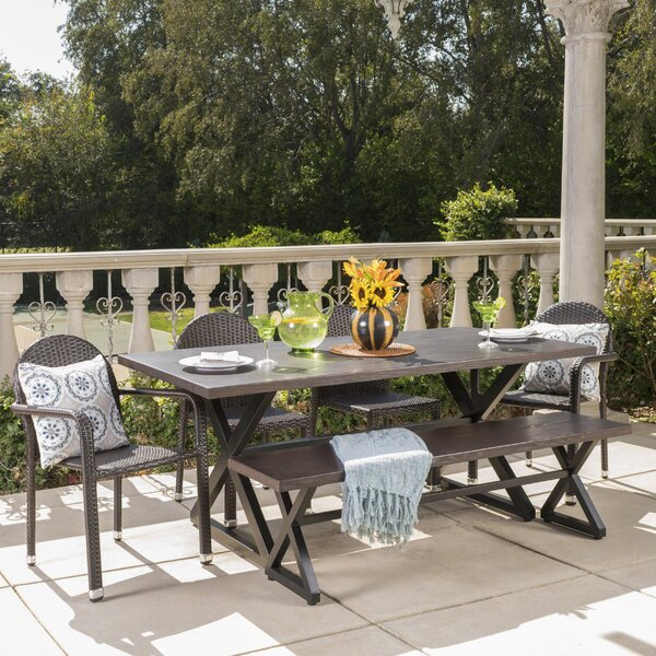 Rolston Outdoor 6 Piece Dining Set by Gracie Oaks