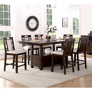Attractive Nika 7 Piece Counter Height Dining Set