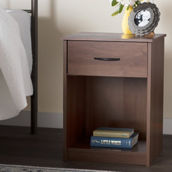 Bowdoin 1 Drawer Nightstand by Andover Mills