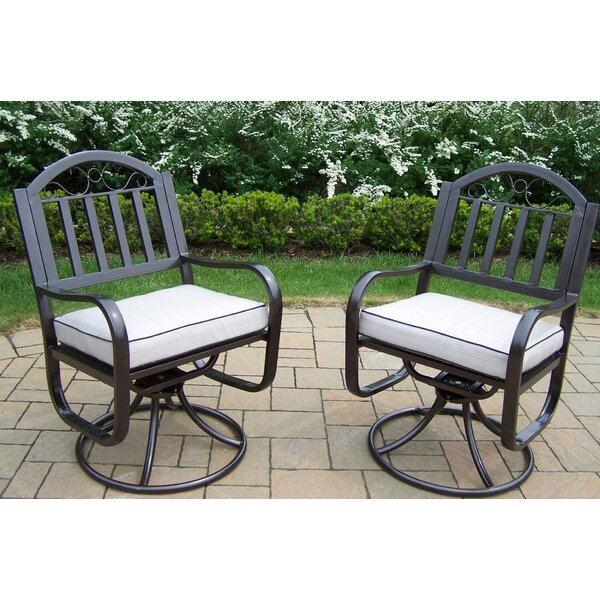 Rochester Swivel Rocking Chair with Cushions (Set of 2) by Oakland Living