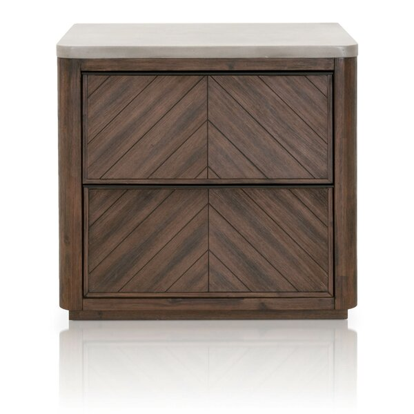 Bog Water 2 Drawer Nightstand by Foundry Select