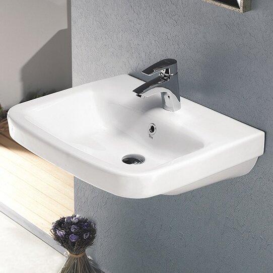 Noura Ceramic Rectangular Drop-In Bathroom Sink with Overflow by CeraStyle by Nameeks