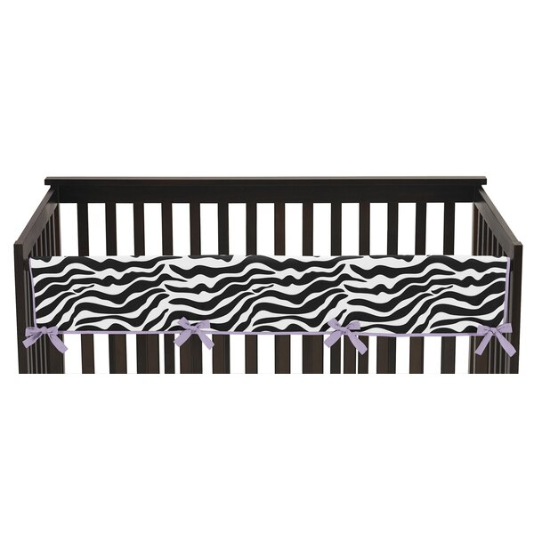 Funky Zebra Crib Rail Guard Cover by Sweet Jojo Designs