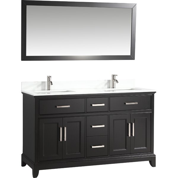Blevens 60 Double Bathroom Vanity Set with Mirror by Gracie Oaks