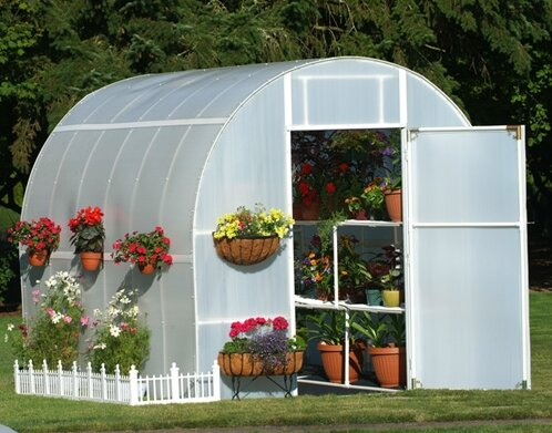 Gardeners Oasis 8 Ft. W x 12 Ft. D Greenhouse by Solexx