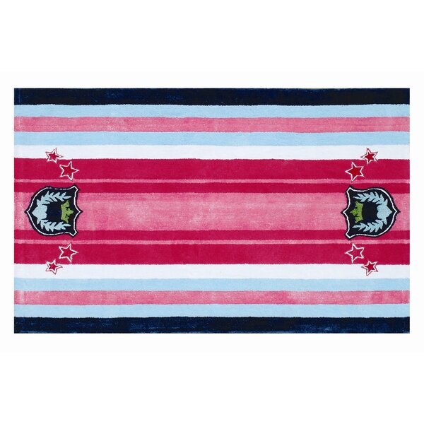 Handmade Pink/Blue Area Rug by The Conestoga Trading Co.