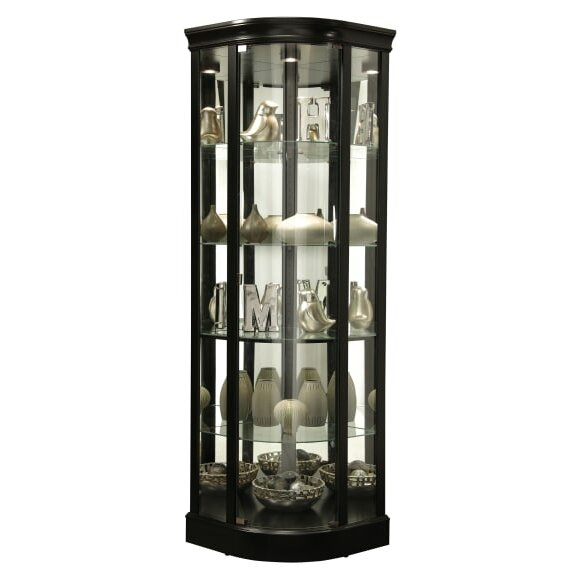 Westerberg Lighted Corner Curio Cabinet by Red Barrel Studio