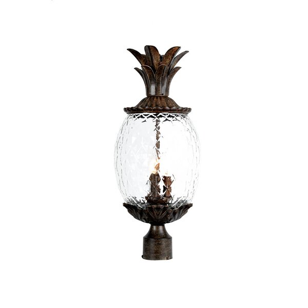 Kyra 3 Light Outdoor Post Lantern by Beachcrest Home