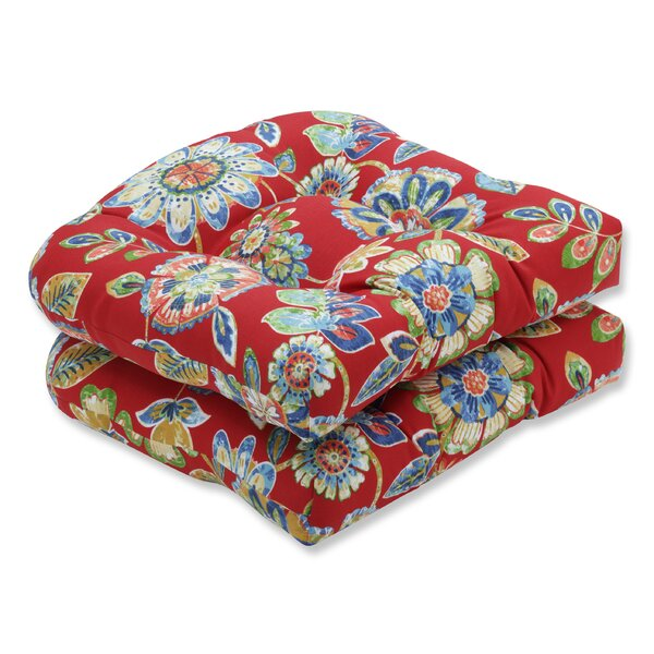 Daelyn Indoor/Outdoor Chair Seat Cushion (Set of 2) by Pillow Perfect