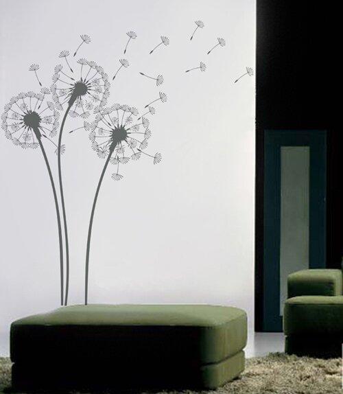 Pop Decors Natural Flowers Dandelions Wall Decal U0026 Reviews | Wayfair