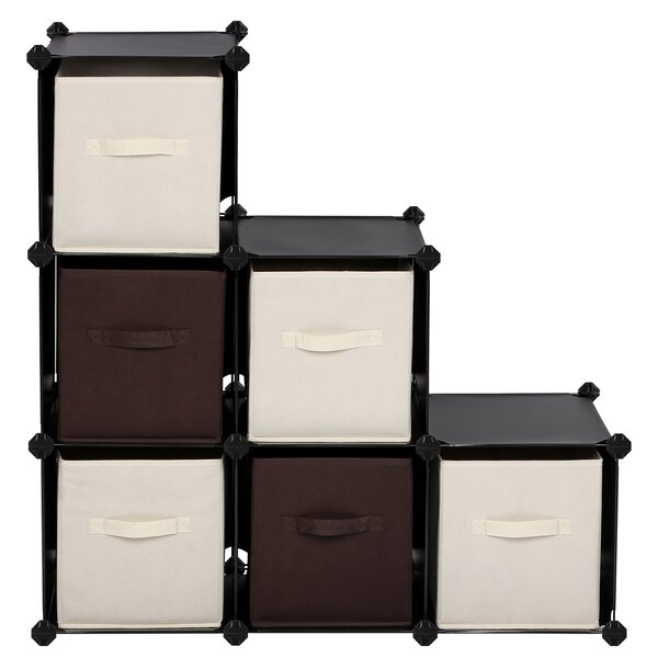 6-Cube Bookcase Cabinet By Rebrilliant