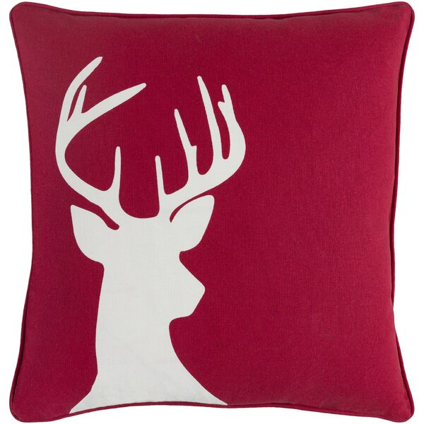 Pirtle Deer Cotton Throw Pillow by Loon Peak