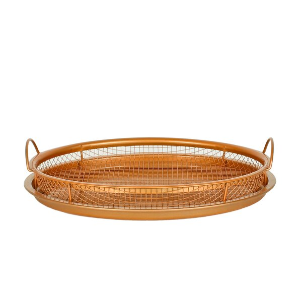"Original Copper Pan Non-Stick Crisper Tray - Air Fryer, 12"" by Master Pan"