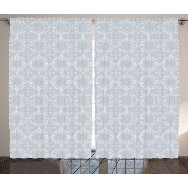Blake Celtic Graphic Print & Text Semi-Sheer Rod Pocket Curtain Panels (Set of 2) by Ivy Bronx
