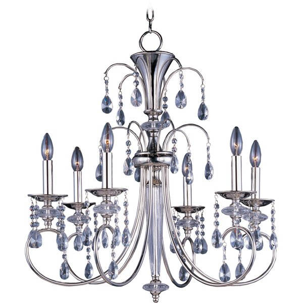 Schurman 6 - Light Candle Style Classic / Traditional Chandelier by House of Hampton House of Hampton