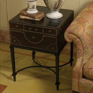 Document Box End Table with Storage