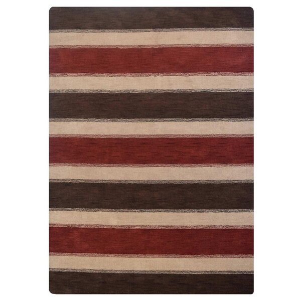 Brennon Hand-Knotted Wool Brown/Beige Area Rug by Ebern Designs