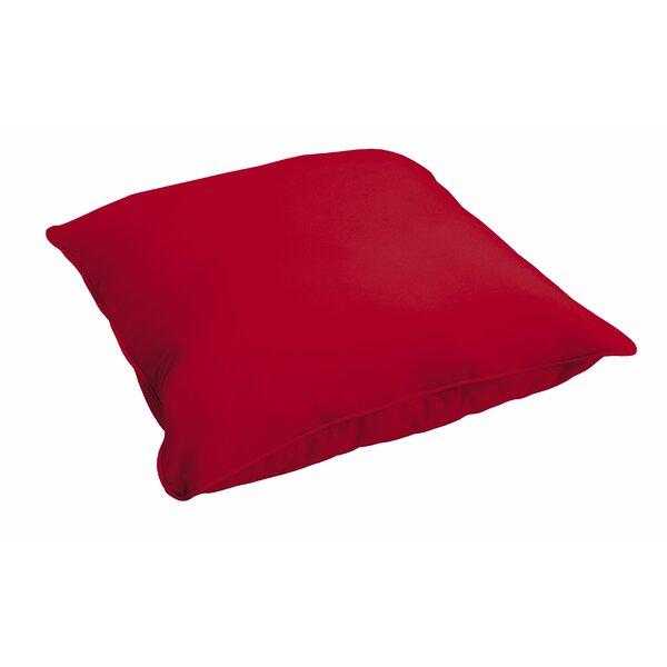 Elkland Crimson Piped Floor Pillow by Red Barrel Studio