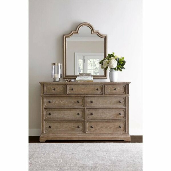 Lovina 9 Drawer Double Dresser with Mirror by Greyleigh