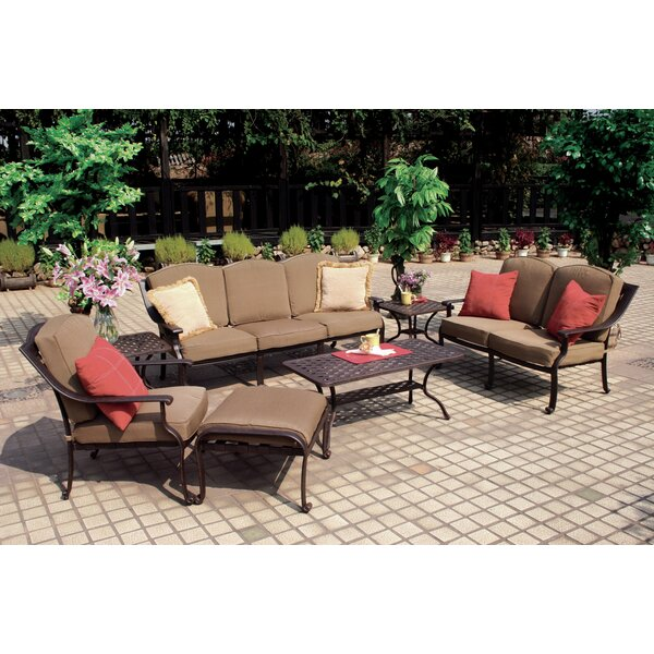 Thompsontown 7 Piece Sofa Set  with Cushion by Alcott Hill